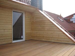 Balkon Bangkirei Hartholz Terrasse