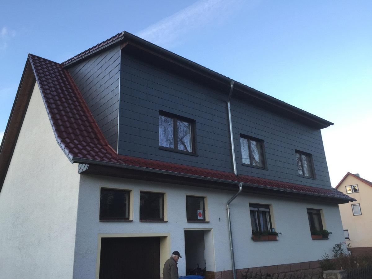 Großartig Fassade Mit Blech Verkleiden Sammlung Von Erker Ausbau Und Naturschiefer
