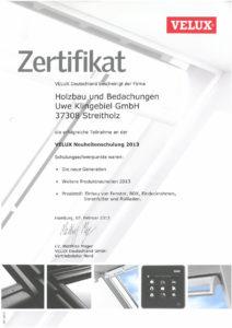 Velux Partner Holzbau Klingebiel Dachfenster