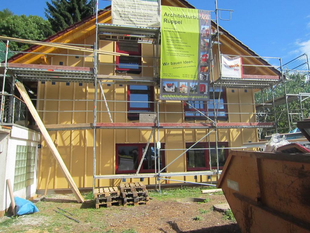 Holz Fassade energetische Sanierung in Hessen