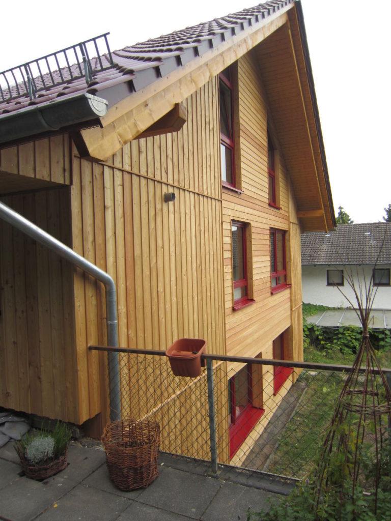 Lärchfassade energetische Sanierung in Hessen