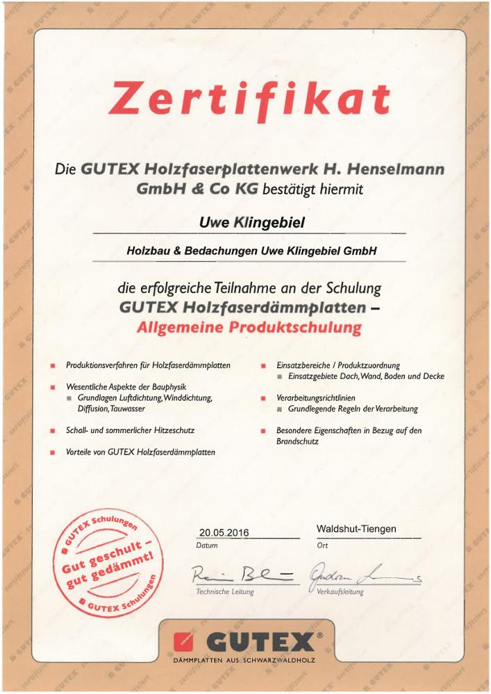 GUTEX Holzfaser Holzbau Klingebiel